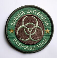 """ZOMBIE OUTBREAK RESPONSE TEAM Iron-On PATCH 3"""" Biohazard Hunter Camo Embroidered"""