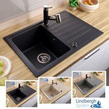 """LINDBERGH® Granit Spüle """"POP"""" + Siphon Einbauspüle Küchenspüle Spülbecken"""