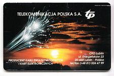 EUROPE  TELECARTE / PHONECARD .. POLOGNE 50ZT TP FIBRE OPTIQUE V° VERT CHIP/PUCE
