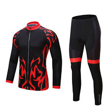 Men's Cycling Jersey Set 2020 Trousers Long Sleeve Shorts Seat Cushion Bike