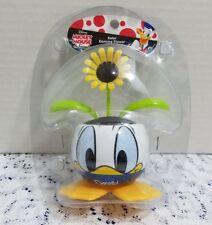 Disney Donald Duck Flower Pot w/ Solar Powered Dancing/Bobble Yellow Sunflower