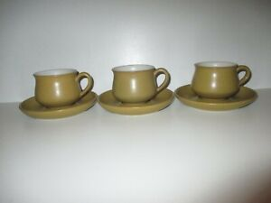 Denby Ode 3 x Teacups and Saucers Excellent Condition