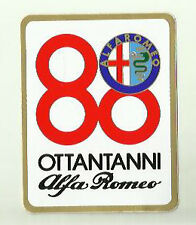 Alfa Romeo 80 Years Ottantanni Vintage Sticker Decal x 2 75 164 Spider 33 WIGIG!