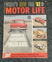 MOTOR LIFE~sept.1961~DODGE'S POWERHOUSE PACKAGE~What's New for '62