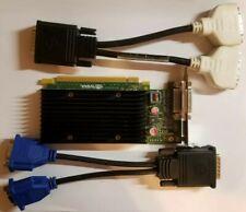 Nvidia Quadro NVS 300 Video Graphics Card Dual Monitor VGA & DVI Cable included