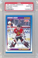 1991 Score Canadian Dominik Hasek (Rookie Card) (#346) PSA10 PSA