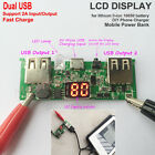 5V 2A Dual USB 3.7V Li-ion Lithium 18650 Battery Fast Charger Board Power Bank