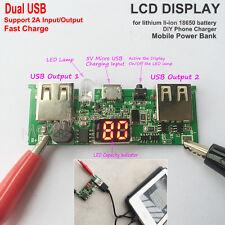 Dual USB 3.7V 18650 Lithium Li-ion Battery Fast Charger Module 5V 2A LCD Display
