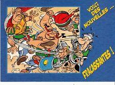 CARTE POSTALE ASTERIX *VOICI DES NOUVELLES...FRACASSANTES!* (GOSCINNY-UDERZO)