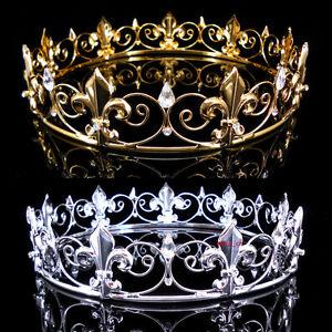 Boy's Imperial Medieval Fleur De Lis King Crown 3cm High 15cm Diameter 2 Colors