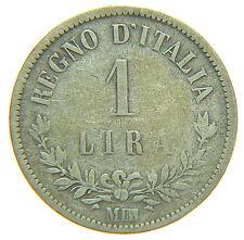 [NC] VITTORIO EMANUELE II - SAVOIA - 1 LIRA VALORE 1863 MILANO (nc2226)