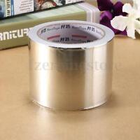 80mm x 25m Roll Silver Aluminium Foil Tape Heat Insulation Self Adhesive Duct