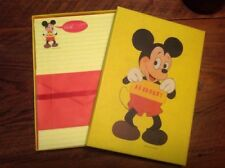 Vintage Hallmark Mickey Mouse Disney Stationery Notes Unused Decorated Sheets