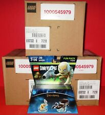 Lot of 18 (3 Sealed Cases) LEGO Dimensions Lord of The Rings Gollum FP# 71218