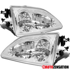 For 94-98 Ford Mustang Euro Crystal Chrome/ Clear Head lights Lamps