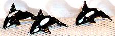 "ORCA Dolphin Black Killer-Whale ArtGlass MINI 1"" figurines  6 pc.box lot"