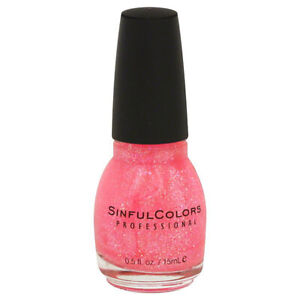 SINFUL COLORS - Professional Nail Polish #830 Pinky Glitter - 0.5 fl oz (15 ml)