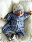 Baby /Reborn doll designer knitting pattern Romper suit,  hat , bootees
