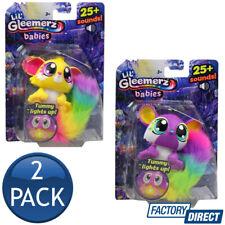2 x LIL GLEEMERZ BABIES BABY TODDLER KIDS TOYS LIGHT SOUND RAINBOW PET FIGURE