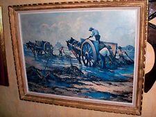 mont st Michel cadre CHROMOTYPOGRAPHIE PÉCHEURS D' AUTREFOIS  avec les chevaux