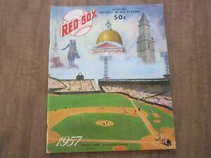 1957 Boston Red Sox Baseball Yearbook