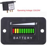 12V/24V Volt LED Digital Battery Indicator Meter Gauge For Car Golf Cart Truck