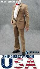 "1/6 Scale KHAKI Color Suit Full Set For 12"" Hot Toys Male Figure U.S.A. SELLER"