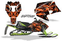 Sled Graphics Kit Decal Wrap For Arctic Cat ZR 6000 R SX Snocross 2018 NW ORANGE
