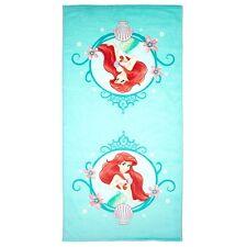 Disney The Little Mermaid Ariel Under the Sea Girls Blue Bath Beach Towel 25x50