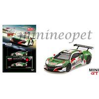 MINI GT MGT00051 HONDA NSX GT3 24 HOUR SPA CASTROL OIL 1/64 GREEN / WHITE