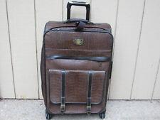"Adrienne Vittadini Matte Croco II Luggage 26"" Suitcase Expandable Handle Wheels"