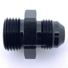 AN-4 BLACK JIC to ORB-8 3/4x16 UNF O-RING Straight Hose Fitting Adapter
