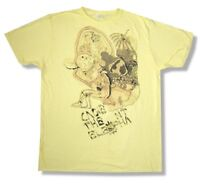 Cage The Elephant Faded Doodle Yellow T Shirt New X Large Xl