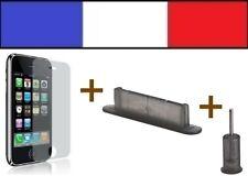 1 LOT FUMÉ anti-poussière + 1 FILM DE PROTECTION D'ECRAN iphone bouchon 3G 3Gs
