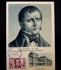 FRANCE PREMIER JOUR FDC YVERT 1211     BICHAT     30+10F     THOIRETTE      1959