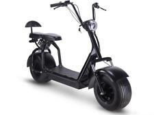 MotoTec Knockout 48v 1000w Electric Scooter Black Double Seat Backrest 20 MPH