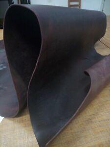Sepici Tooling Leather 11/13 oz Burgundy Veg Tanned Full Grain Cow Hide Molding