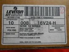 LEVITON 16V24-H  SERIES 16 MALE VULCANIZED PLUG 400 A 600V (BROWN) NEW