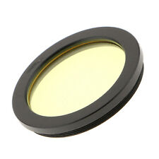 "For Celestron Telescope Color Filter 2"" Moon Planet Nebula Clear View Yellow"