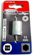 """Steckschlüssel Einsatz Sechskant 1/4""""x 13,00 mm Stecknuss Chrom Vanadium Connex"""