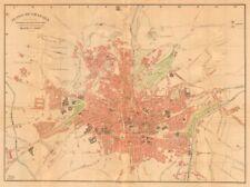 Granada. plano antiguo de la cuidad. Antiguo pueblo/ciudad Plan. Martin c1911 Mapa