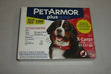 PETARMOR PLUS FOR DOGS 89-132 LBS. 6 MONTH VALUE PACK BRAND NEW FREE SHIPPING
