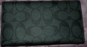 NWT'S COACH PHONE HOLDER CARD HOLDER WALLET W/ SIGNATURE C'S LEATHER F32625