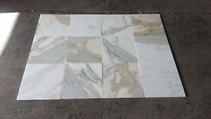 """Calacatta Gold Honed Marble Tile 12"""" x 12"""" x 3/8"""" - 120 sq. ft. lot"""