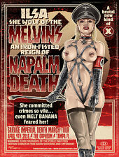 MELVINS / NAPALM DEATH Tampa 2016 silkscreened poster by Greg Reinel