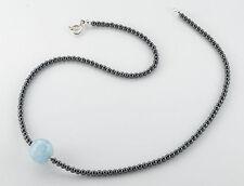 Natürliche Halsketten aus Edelsteinen mit Aquamarin