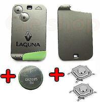 COQUE Carte CLE PLIP Télécommande RENAULT LAGUNA 2 boutons + PILE SWITCH OFFERT