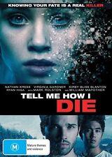 Tell Me How I Die (DVD, 2017) (Region 4) Aussie Release
