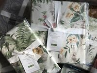 Pottery Barn Marlena Duvet Cover Set Queen 2 Euro Shams Floral Reversible New
