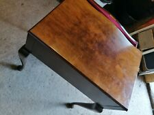 More details for vintage quality cutlery canteen mahogany table with removable legs flatpack !